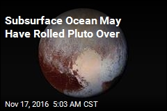 Subsurface Ocean May Have Rolled Pluto Over
