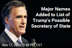 Sources Say Trump Considering Romney, Petraeus for Secretary of State