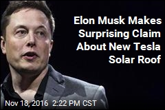Elon Musk Makes Surprising Claim About New Tesla Solar Roof