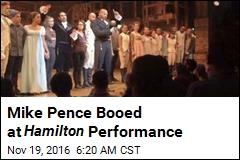 Mike Pence Booed at Hamilton Performance