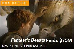 Fantastic Beasts Finds $75M