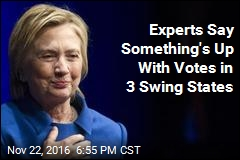 Experts Say Something's Up With Votes in 3 Swing States