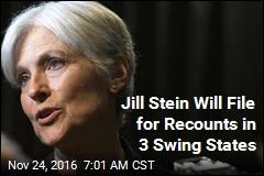 Jill Stein Raises $2.5M, Will Seek Recounts in 3 Swing States