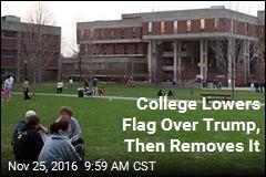 Massachusetts College Abandons US Flag, for Now