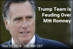 Trump Team Is Feuding Over Mitt Romney