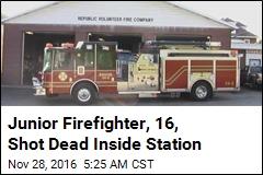 Junior Firefighter, 16, Shot Dead Inside Station