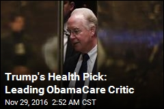 Leading ObamaCare Critic Is Trump's Health Pick