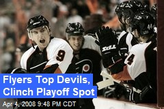 Flyers Top Devils, Clinch Playoff Spot