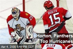 Horton, Panthers Top Hurricanes