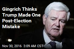 Gingrich: Trump Voter Fraud Tweet Was a Mistake