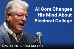 Al Gore Changes His Mind About Electoral College