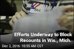 Efforts Underway to Block Recounts in Wis., Mich.
