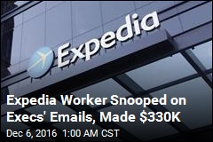 Expedia Worker Snooped on Emails for Stock Deals