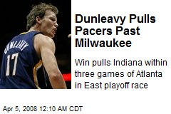 Dunleavy Pulls Pacers Past Milwaukee