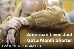 American Lives Just Got a Month Shorter
