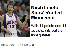 Nash Leads Suns' Rout of Minnesota