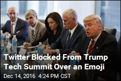 Twitter Blocked From Trump Tech Summit Over an Emoji