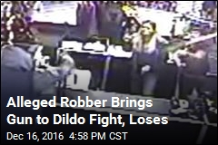 Alleged Robber Brings Gun to Dildo Fight, Loses