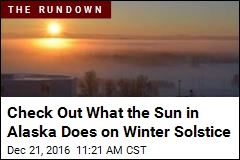 Check Out What the Sun in Alaska Does on Winter Solstice