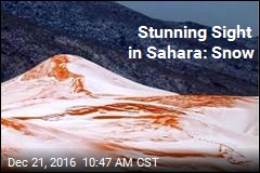 Stunning Sight in Sahara: Snow