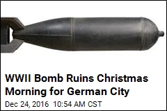 Germans Must Leave Home Xmas as WWII Bomb Is Defused