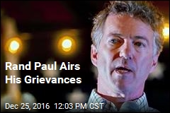 Rand Paul Airs His Grievances