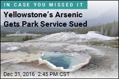 Yellowstone's Arsenic Gets Park Service Sued