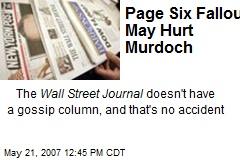 Page Six Fallout May Hurt Murdoch