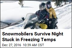 Snowmobilers Survive Night Stuck in Freezing Temps