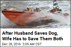 After Husband Saves Dog, Wife Has to Save Them Both