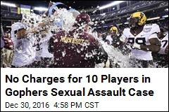 No Charges for 10 Players in Gophers Sexual Assault Case