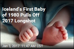 Iceland's First Baby of 1980 Pulls Off 2017 Longshot
