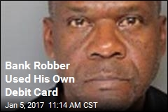 Bank Robber Used His Own Debit Card