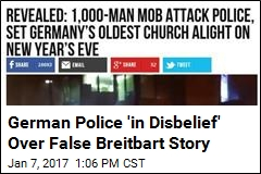 German Police 'in Disbelief' Over False Breitbart Story
