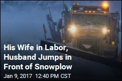 A Woman in Labor, a Wintry Storm, a Fortuitous Snowplow