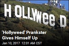 'Hollyweed' Prankster Gives Himself Up