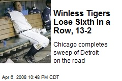 Winless Tigers Lose Sixth in a Row, 13-2