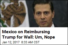 Mexico on Reimbursing Trump for Wall: Um, Nope
