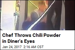 Chef Throws Chili Powder Into Diner's Eyes