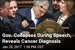 Gov. Collapses During Speech, Reveals Cancer Diagnosis