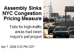 Assembly Sinks NYC Congestion Pricing Measure