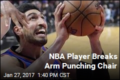 NBA Player Breaks Arm Punching Chair