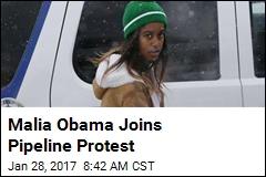 Malia Obama Joins Pipeline Protest