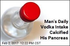 Man's Daily Vodka Intake Calcified His Pancreas