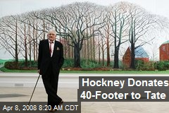 Hockney Donates 40-Footer to Tate