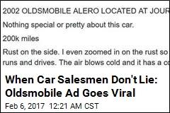 Ad for 2002 Oldsmobile Is Delightfully Honest