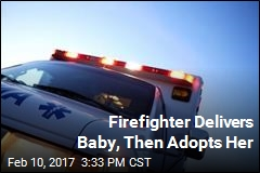Firefighter Delivers Baby, Then Adopts Her