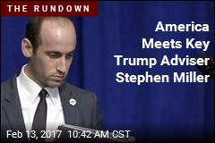 Trump Adviser Stephen Miller Has His Biggest Intro to Public