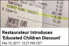 Restaurateur Introduces 'Educated Children Discount'