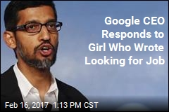 Google CEO Responds to Girl Who Wrote Looking for Job